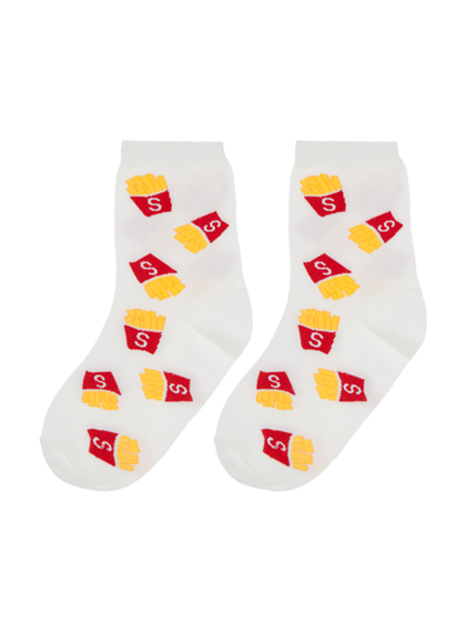 Food Print Ankle Socks