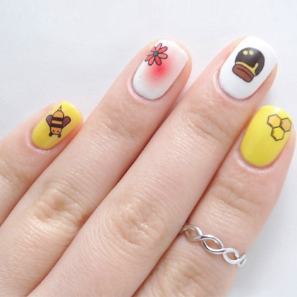 Flower Garden Themed Nail Art Water Decal