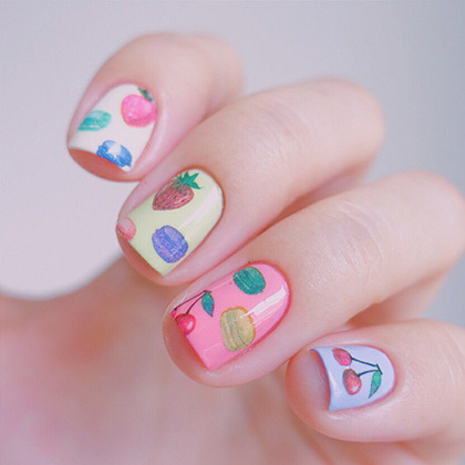 Macaroon Themed Nail Art Water Decal