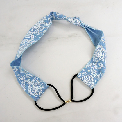 Paisley Denim Hairband