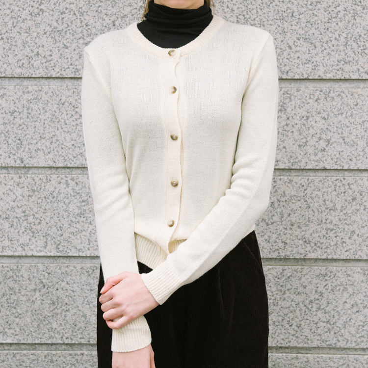 Basic Button-Front Knit Cardigan