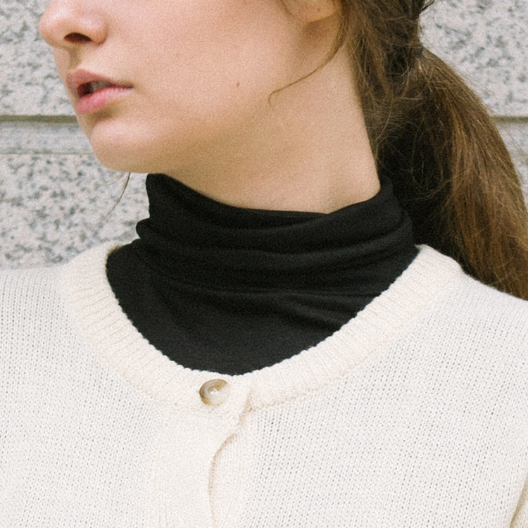 Plain Turtleneck Top