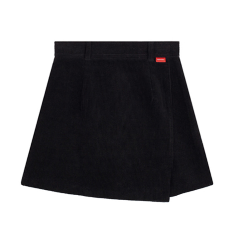 HEART CLUBCorduroy Faux Wrap Mini Skirt