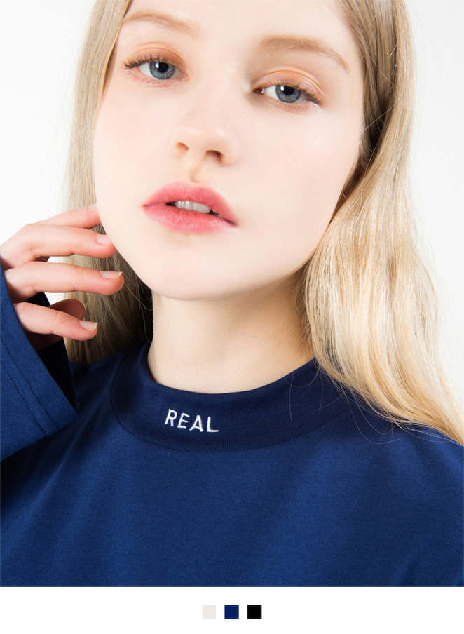 REAL Mock Neck Top