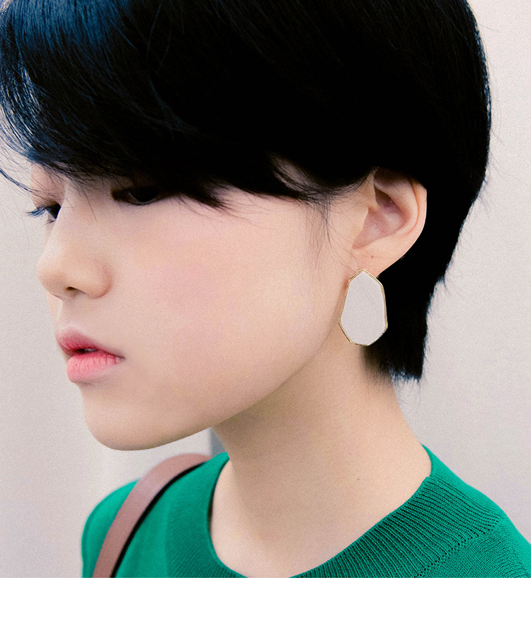Large Heptagon Earrings