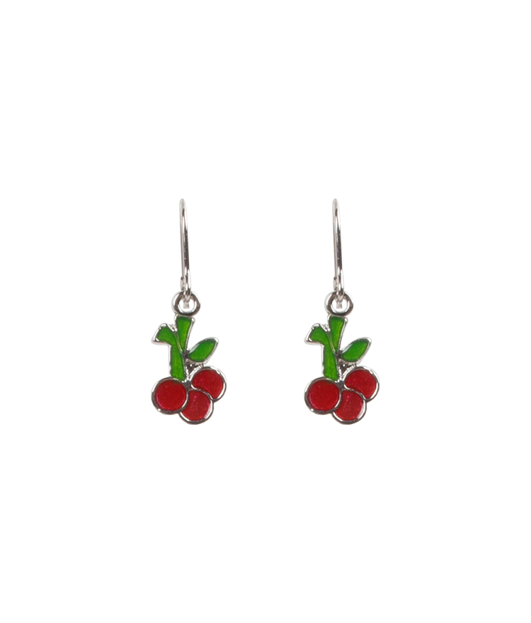 Cherry Pendant Hook Earrings