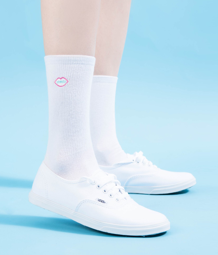 Embroidered Logo Socks