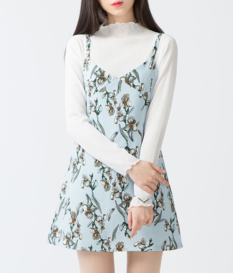 BAUHAUSFloral V-Neck Sleeveless Mini Dress